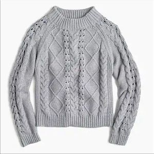 J. Crew • Mockneck cable-knit sweater